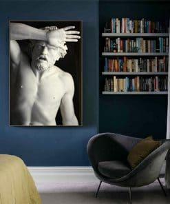 Renaissance Michelangelo Sculpture Art Posters And Prints Black White Wall Art Canvas Paintings Pictures Living Room Home Decor