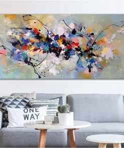 Abstract Oil Painting on Canvas Colorful Posters and Print Scandinavian Cuadros Wall Art Picture for Living Room Home Decoration
