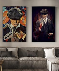 Portrait of Tommy Shelby Wall Art Posters And Prints Peaky Blinders Abstract Art Paintings Print on Canvas Art Pictures Cuadros