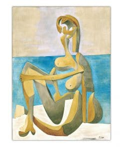 Home Decoration Print Canvas Art Wall Pictures Poster Printings Paintings Spanish Pablo Picasso Lady In Striped Green Chair
