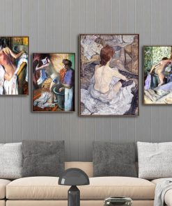 Home Decoration Print Canvas Art Wall Pictures for Living Room Poster Paitings French Edgar Degas Bathing girl 1