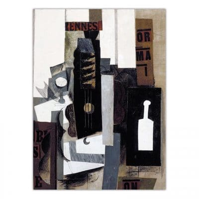 Glass, Guitar and Bottle, 1913