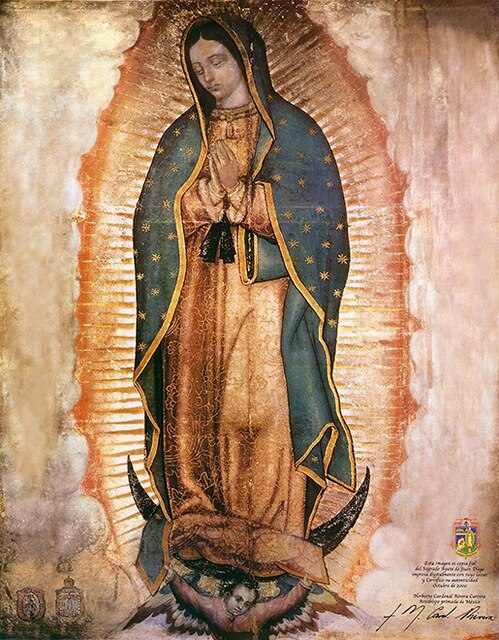 Guadalupe Lady Oil Painting on Canvas Famous Prints and Poster Cuadros Wall Art Picture for Living Room Home Decoration Unframed