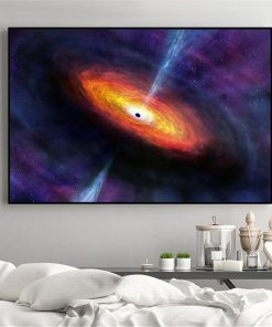Galaxy Stars Astronaut Planet Hole Space Canvas Painting Universe Earth Meteorite Posters and Prints Wall Picture for Home Decor