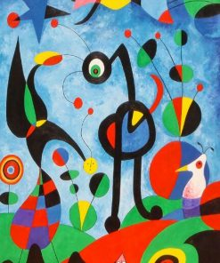 The Garden By Joan Miro Paintings Canvas Famous ArtWork Posters and Prints Abstract Art Wall Pictures for Living Room Home Decor