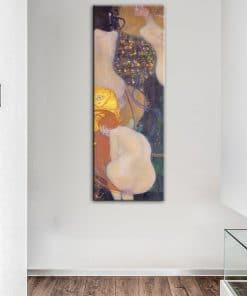 Gustav Klimt Goldfish Oil Paintings on Canvas Famous Posters and Prints Cuadros Wall Art Picture for Living Room Home Decoration