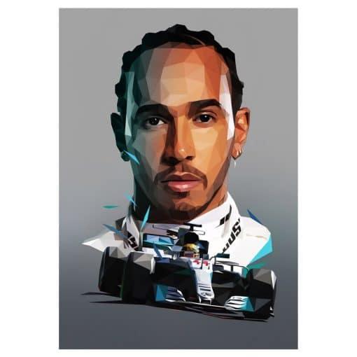 Car Racers F1 Ayrton Senna, Charles Leclerc, Kimi Raikkonen, Lando Norris, Lewis Hamilton, Max Verstappen, Michael Schumacher and Mika Hakkinen, Painting Printed on Canvas