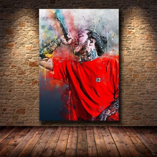 Star Posters and Prints Pop Art Rock and Roll Band Canvas Picture for Living Room Graffiti Portrait Painting Home Room Decor