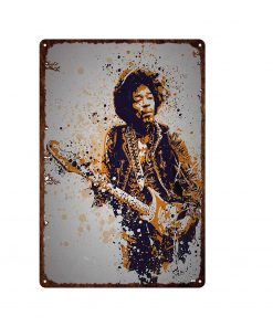 Pop Rock Singer Retro Metal Plaque Vintage Metal Tin Sign Movie Star Poster Living Room Bar Cafe Club Home Decor Metal Plate