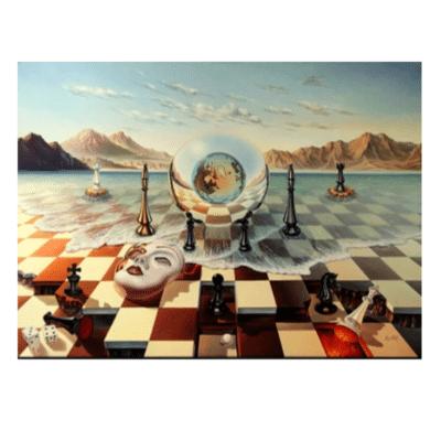 Chess Mask On Sea