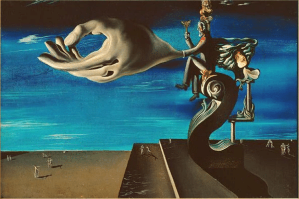 The Hand Surrealism Painting by Salvador Dali