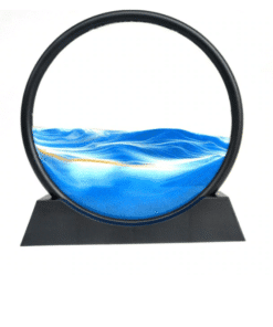 Creative 3D Hourglass with Shelf Deep Sea Sandscape Quicksand Painting Moving Sand Art Picture Home Decor Desk Decorations 19