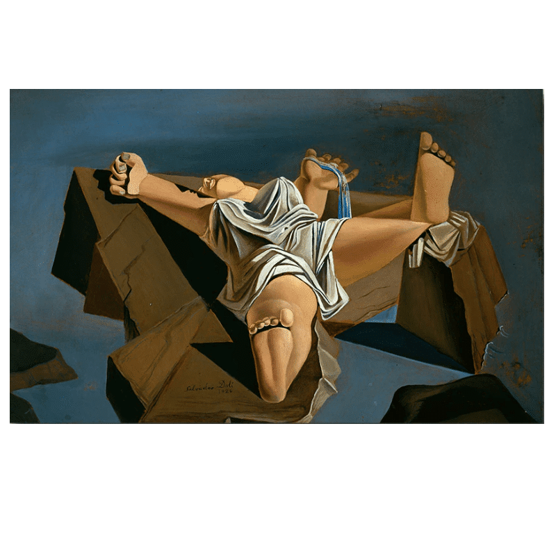 Figure on The Rocks Painting by Salvador Dali
