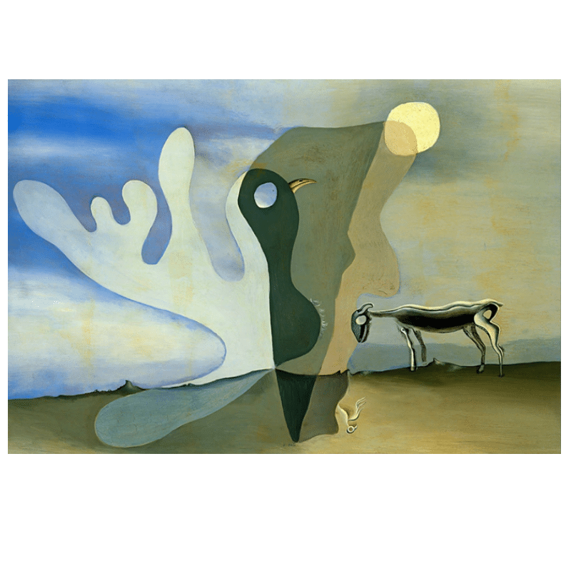 The Ram Spectral Cow by Salvador Dali