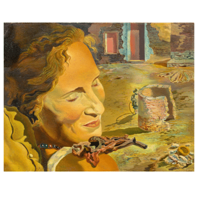 Portrait of Gala with Two Lamb Chops by Salvador Dalí