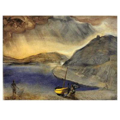 Landscape of Port Lligat with Approaching Storm 1956
