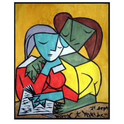 Two Girls Reading 1934